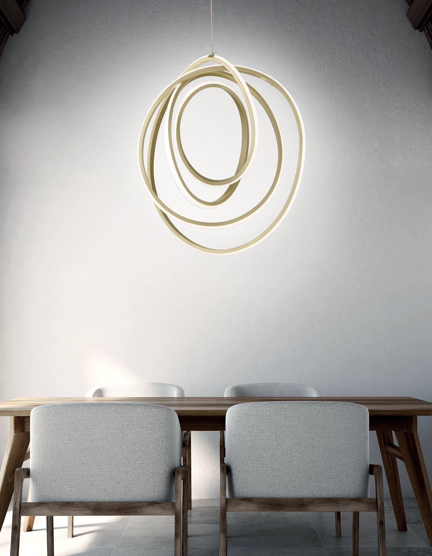 Sospensione a LED Golden Ondaluce