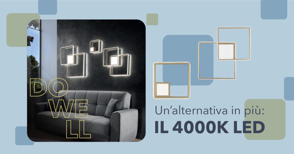 L'introduzione della luce 4000K Led