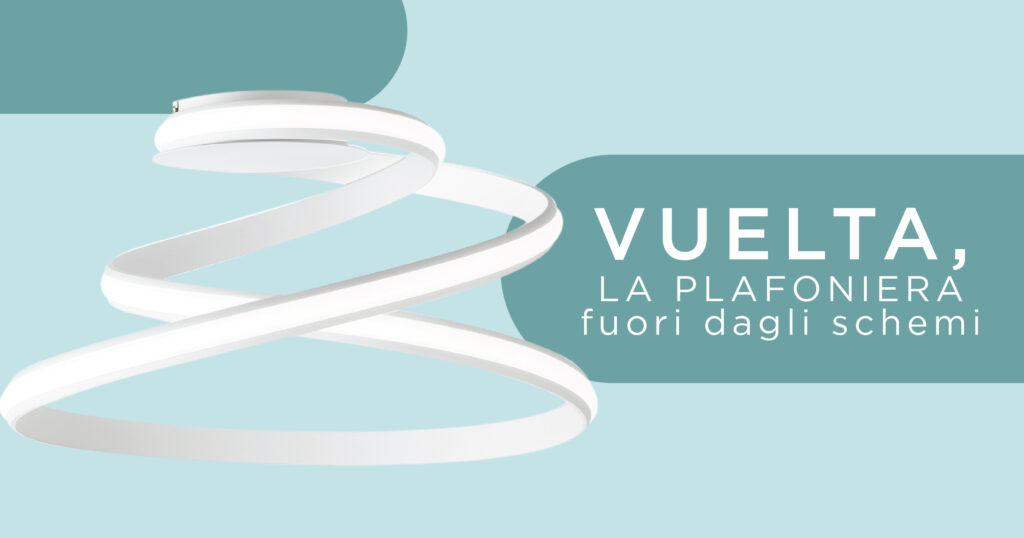 Vuelta, the unconventional ceiling light It's hard to have to buy a ceiling light.